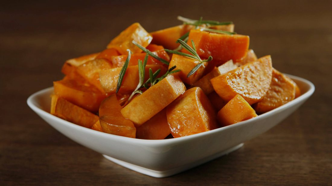 Ginger Sweet Potatoes in 6 Minutes.