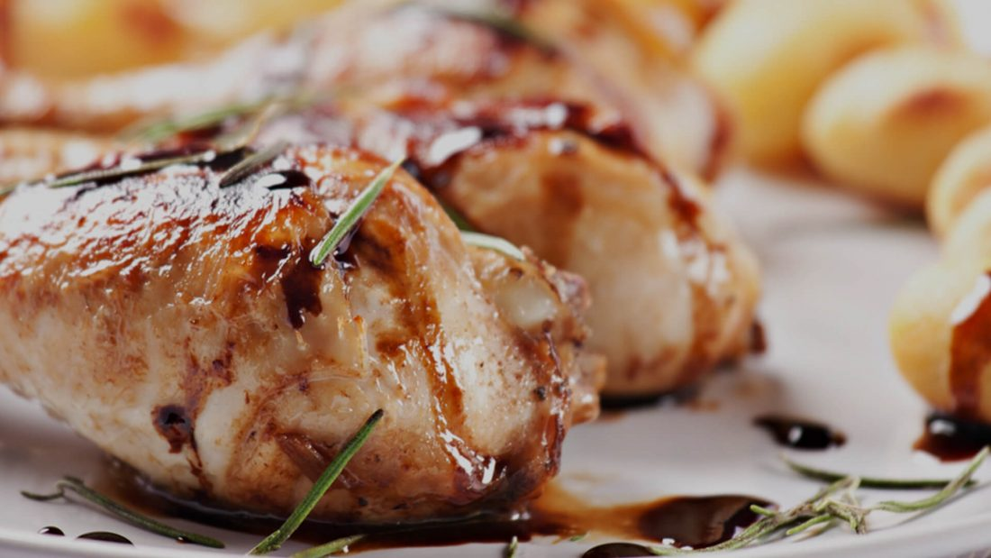 Braised Balsamic Chicken in 8 Minutes.