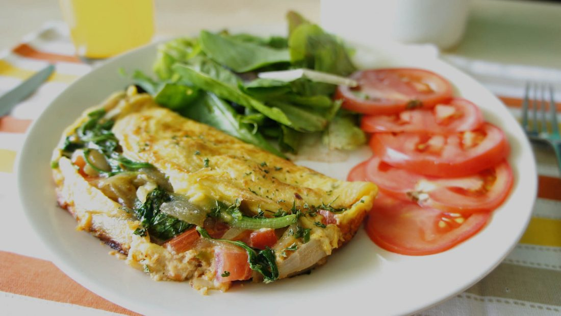 Vegetarian Omelette in 4 Minutes.